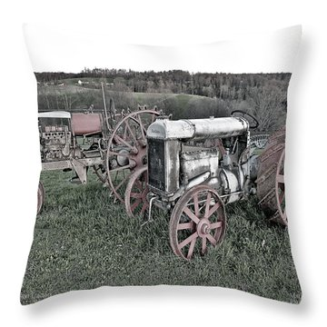 1923 Fordson Tractors Throw Pillow by Mark Allen