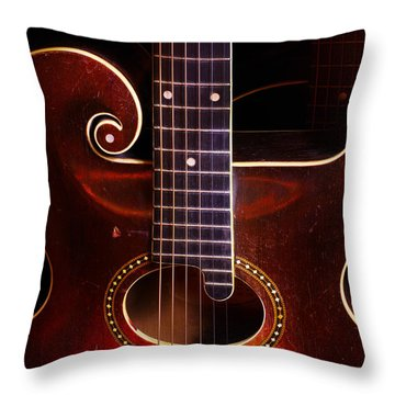 1923 Gibson Throw Pillow by Jim Mathis