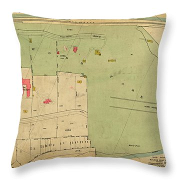 Throw Pillow featuring the photograph 1923 Inwood Hill Map  by Cole Thompson