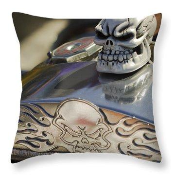 1923 T-bucket Skull Hood Ornament Throw Pillow