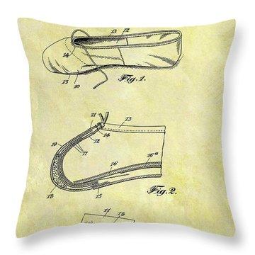 1924 Ballet Slipper Throw Pillow