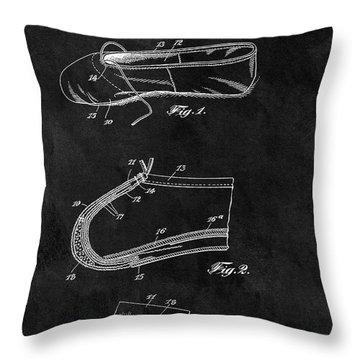 1924 Ballet Slipper Patent Throw Pillow