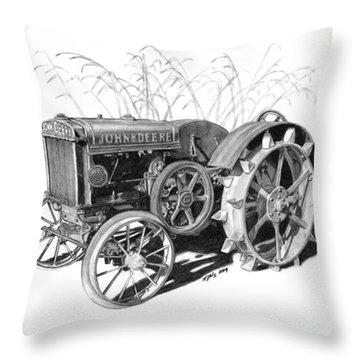 1924 John Deere Throw Pillow