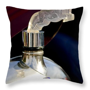 1925 Citroen Cloverleaf Hood Ornament Throw Pillow by Jill Reger