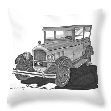 1925 Jewett 2 Door Touring Sedan Throw Pillow