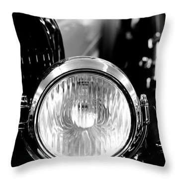 1925 Lincoln Town Car Headlight Throw Pillow