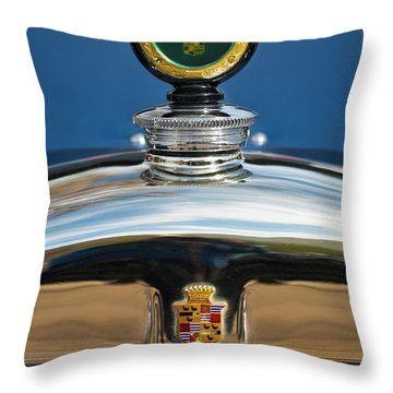 1926 Cadillac Series 314 Custom Hood Ornament Throw Pillow by Jill Reger