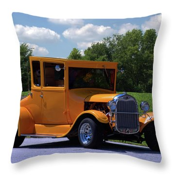 1926 Ford Hot Top T Hot Rod Throw Pillow