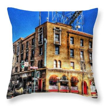 1927 Hotel Monte Vista - Flagstaff  Throw Pillow by Saija  Lehtonen