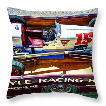 1927 Miller 91 Rear Drive Racing Car Throw Pillow