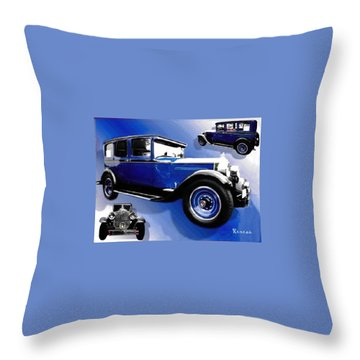 1927 Packard 526 Sedan Throw Pillow by Sadie Reneau