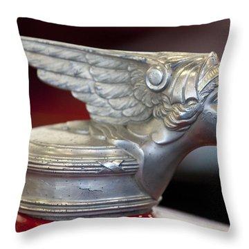 1928 Buick Custom Speedster Hood Ornament Throw Pillow by Jill Reger