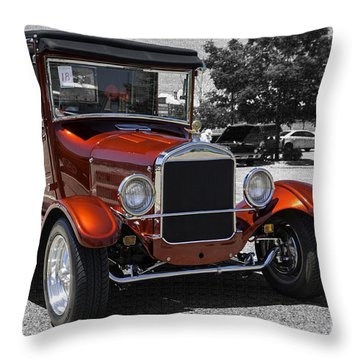 1928 Ford Coupe Hot Rod Throw Pillow by Chris Thomas