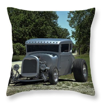 1928 Ford Coupe Hot Rod Throw Pillow