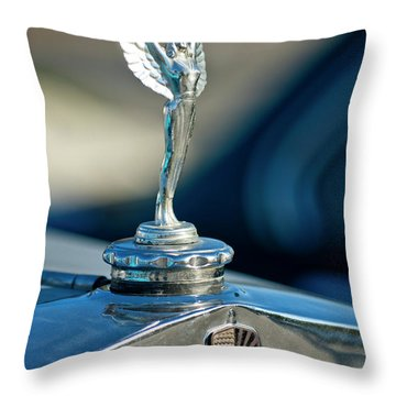 1928 Nash Coupe Hood Ornament Throw Pillow by Jill Reger