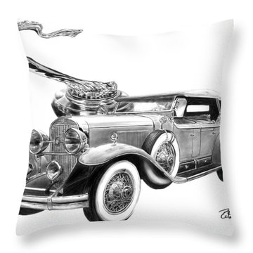 1929 Cadillac  Throw Pillow by Peter Piatt