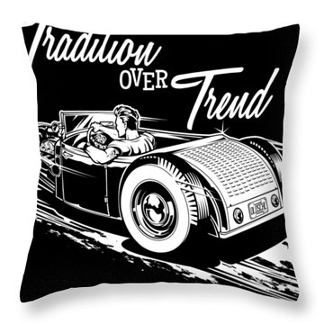 1929 Roadster Design Throw Pillow