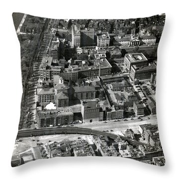 Throw Pillow featuring the photograph 1930 Along Charles Street, Boston by Historic Image