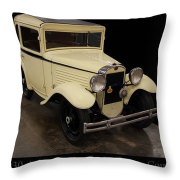 Throw Pillow featuring the digital art 1930 American Austin 5 Window Coupe by Chris Flees