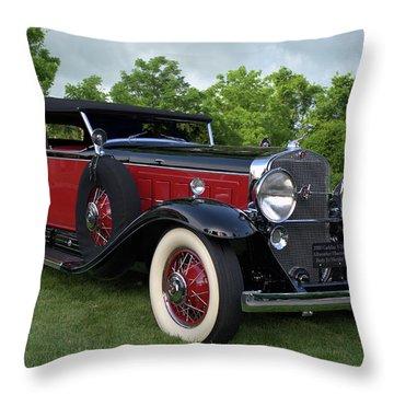 1930 Cadillac V16 Allweather Phaeton Throw Pillow