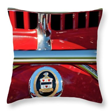 1930 Cord L29 Phaeton Emblem Throw Pillow by Jill Reger
