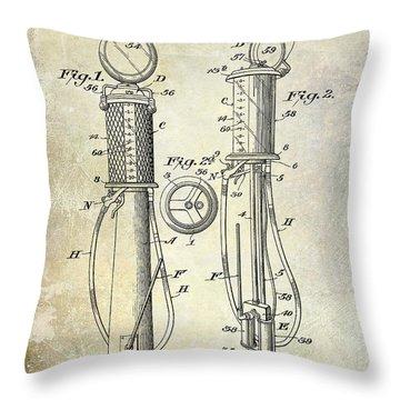 1930 Gas Pump Patent Throw Pillow