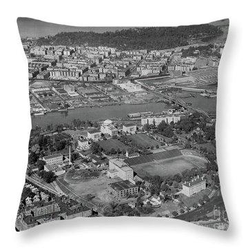 1930's Northern Manhattan Aerial  Throw Pillow