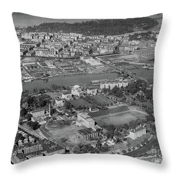 1930's Northern Manhattan Aerial  Throw Pillow by Cole Thompson
