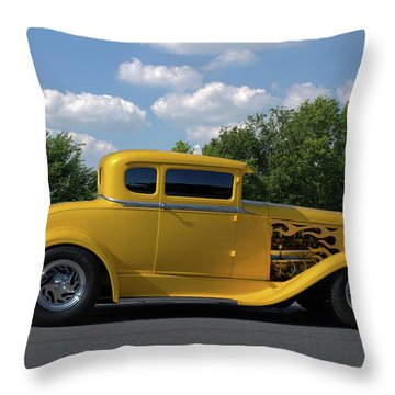 1931 Ford Coupe Hot Rod Throw Pillow