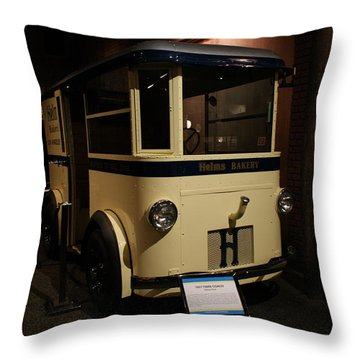 1931 Helms Bakery Truck Throw Pillow by Ernie Echols