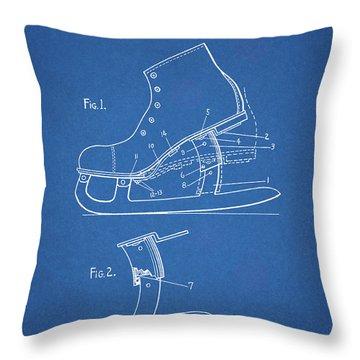 1931 Ice Skate Throw Pillow