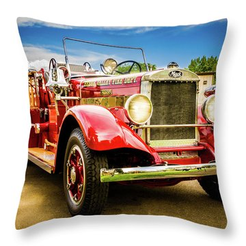 1931 Mack - Heber Valley Fire Dept. Throw Pillow