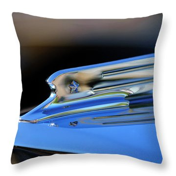 1931 Marmon Sixteen Coupe Hood Ornament 2 Throw Pillow by Jill Reger