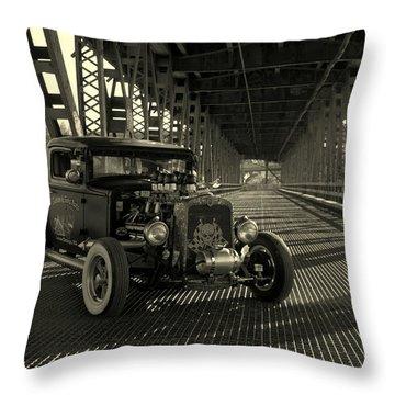 1931 Nash Coupe Rat Rod Throw Pillow