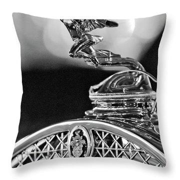 1931 Packard Convertible Victoria Hood Ornament 2 Throw Pillow by Jill Reger