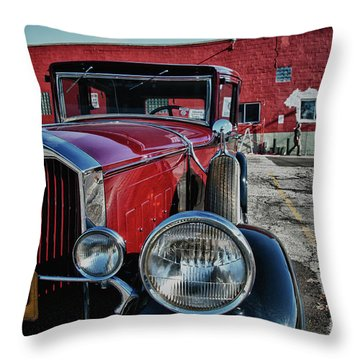 Throw Pillow featuring the photograph 1931 Pierce Arow 3473 by Guy Whiteley