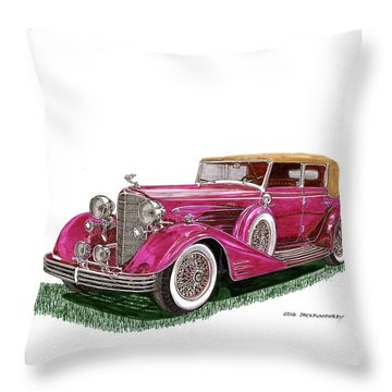 1932 Cadillac All Weather Phaeton V 16 Throw Pillow by Jack Pumphrey