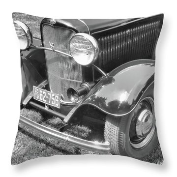 1932 Ford Coupe Bw Throw Pillow