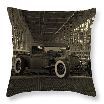 1932 Ford Pickup Rat Rod Throw Pillow