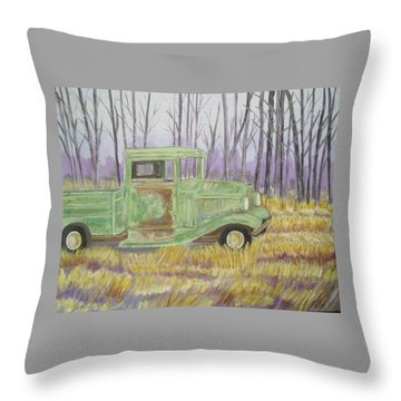 1932  Greenford Pickup Truck Throw Pillow