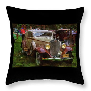 1932 Packard 900 Throw Pillow