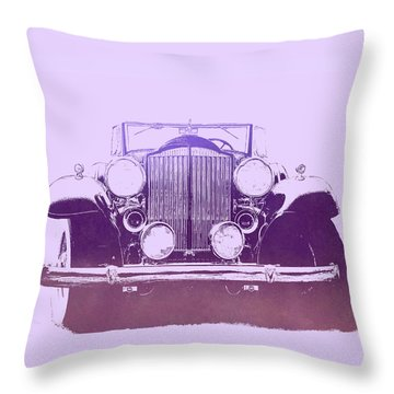 1932 Packard Pop Art Violet Gradient Throw Pillow