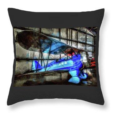 1932 Waco Biplane Throw Pillow