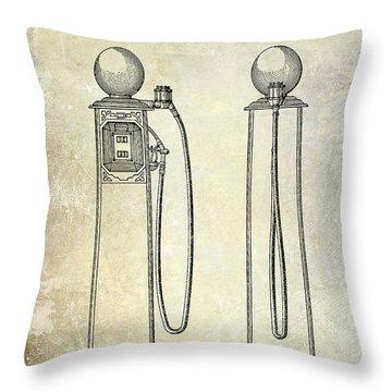1933 Gas Pump Patent Throw Pillow
