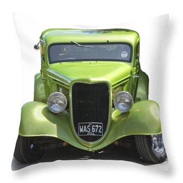 1934 Ford Street Hot Rod On A Transparent Background Throw Pillow