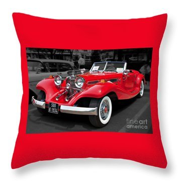 1934 Mercedes 500k Cabriolet Throw Pillow