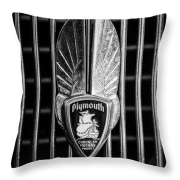 1934 Plymouth Emblem 2 Throw Pillow by Jill Reger