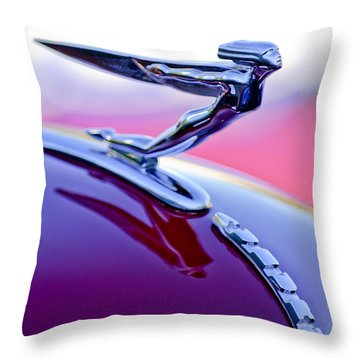 1935 Auburn Hood Ornament 4 Throw Pillow by Jill Reger