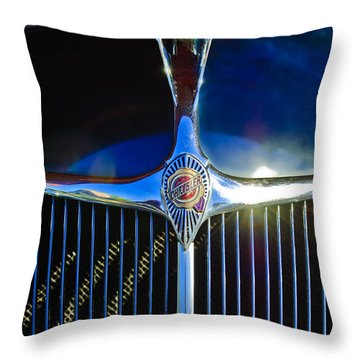 1935 Chrysler Hood Ornament 2 Throw Pillow by Jill Reger