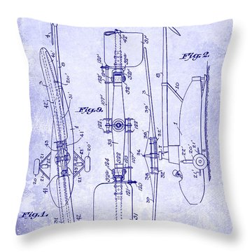 1935 Helicopter Patent Blueprint Throw Pillow